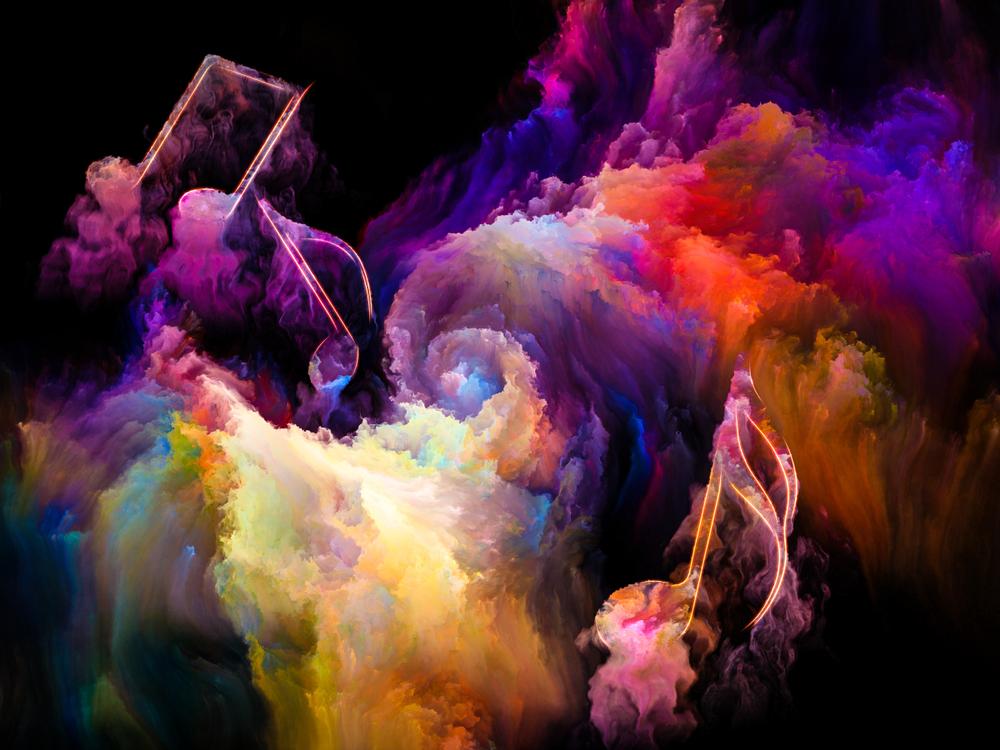 color of music series-purple