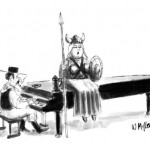 singer-in-operatic-viking-costume-sits-atop-piano-with-piano-player-New-Yorker-cartoon-Warren-Miller
